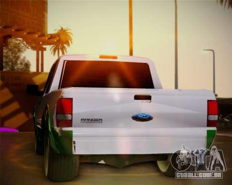 Ford Ranger 2005 para vista lateral GTA San Andreas