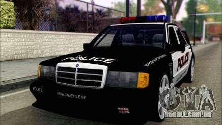 Mercedes-Benz 190E Evolution Police para GTA San Andreas