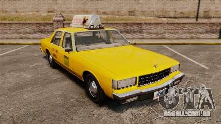 Chevrolet Caprice 1987 L.C.C. Taxi para GTA 4