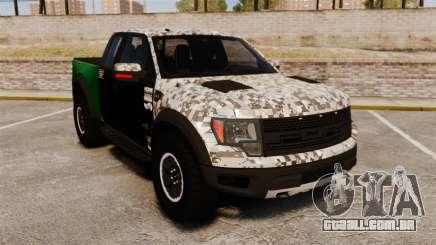 Ford F-150 SVT Raptor 2011 ArmyRat para GTA 4