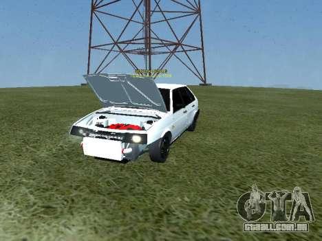 VAZ 2109 Opera Turbo para GTA San Andreas traseira esquerda vista