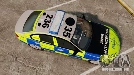 BMW F30 328i Metropolitan Police [ELS] para GTA 4 vista direita