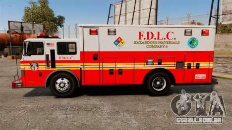 Hazmat Truck FDLC [ELS] para GTA 4 esquerda vista