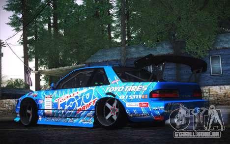 Nissan Silvia S13 Toyo para GTA San Andreas esquerda vista