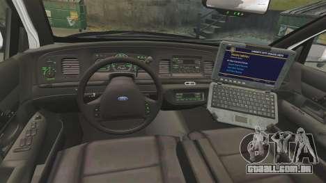Ford Crown Victoria 1999 LAPD & GTA V LSPD para GTA 4 vista de volta