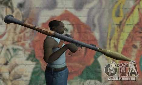 Lançador de mísseis para GTA San Andreas terceira tela