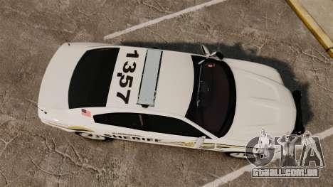 Dodge Charger RT 2012 Police [ELS] para GTA 4 vista direita