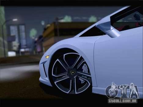 Lamborghini Gallardo 2013 para GTA San Andreas vista interior
