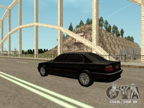 BMW 750i para GTA San Andreas esquerda vista