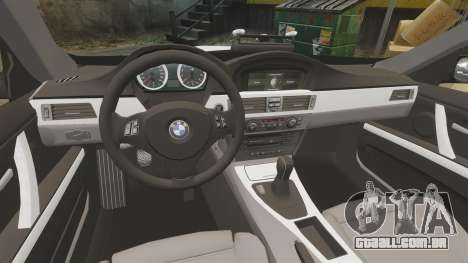 BMW M3 British Police [ELS] para GTA 4 vista interior