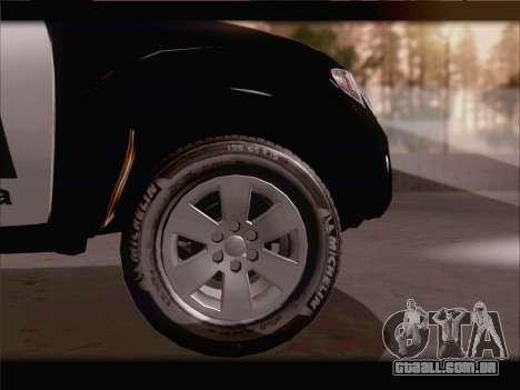 Mitsubishi L200 POLICIA para GTA San Andreas vista interior