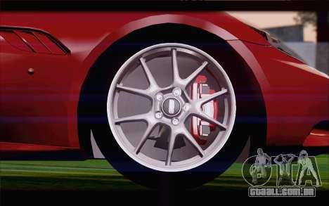 Ferrari California para GTA San Andreas traseira esquerda vista