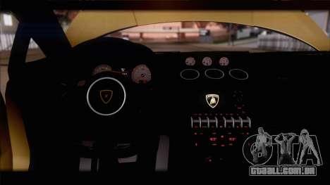 Lamborghini Gallardo LP560-4 Coupe 2013 V1.0 para GTA San Andreas interior