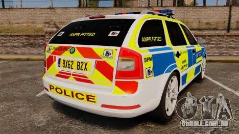 Skoda Octavia Scout RS Metropolitan Police [ELS] para GTA 4 traseira esquerda vista