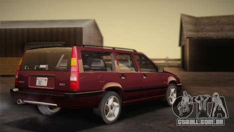 Volvo 850 Estate Turbo 1994 para GTA San Andreas esquerda vista