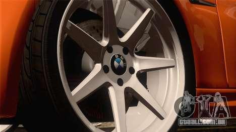 BMW M3 E92 2008 Vossen para GTA San Andreas vista traseira