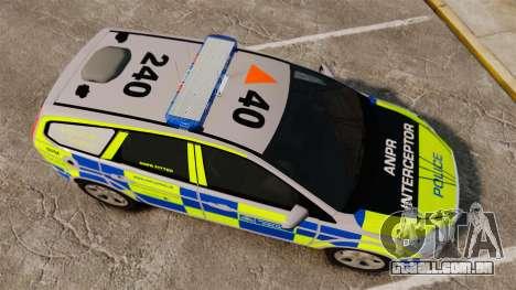 Ford Focus Estate Metropolitan Police [ELS] para GTA 4 vista direita