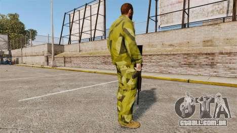 O uniforme de camuflagem sueca para GTA 4 terceira tela