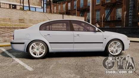 Skoda Superb 2006 Unmarked Police [ELS] para GTA 4 esquerda vista