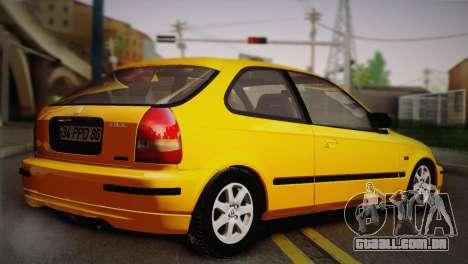 Honda Civic 1.4is TMC para GTA San Andreas traseira esquerda vista