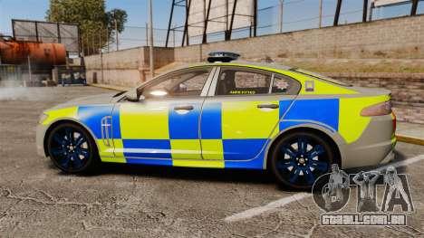 Jaguar XFR 2010 West Midlands Police [ELS] para GTA 4 esquerda vista