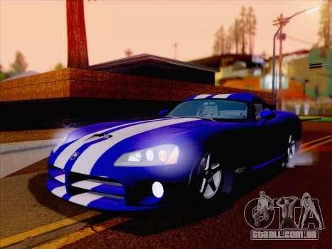 Dodge Viper SRT-10 Coupe para GTA San Andreas traseira esquerda vista