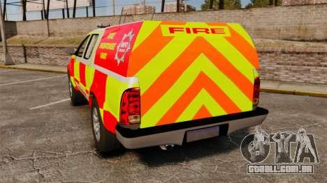 Toyota Hilux British Rapid Fire Cover [ELS] para GTA 4 traseira esquerda vista