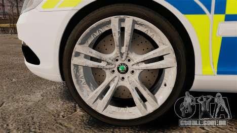 Skoda Octavia Scout RS Metropolitan Police [ELS] para GTA 4 vista de volta