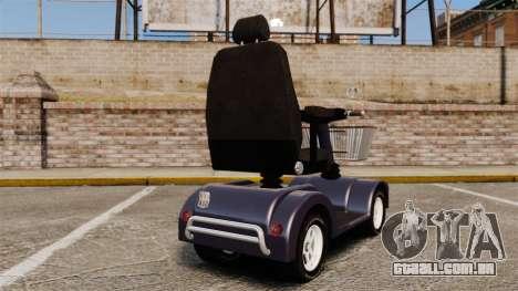 Funny Electro Scooter para GTA 4 traseira esquerda vista