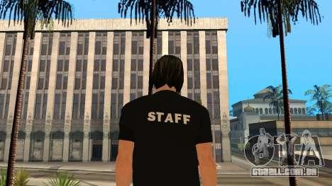Pele de alta qualidade pessoal para GTA San Andreas segunda tela