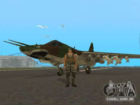 Su-25 para GTA San Andreas esquerda vista
