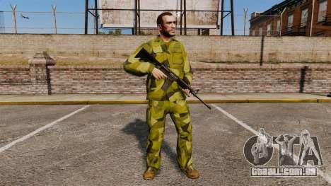O uniforme de camuflagem sueca para GTA 4