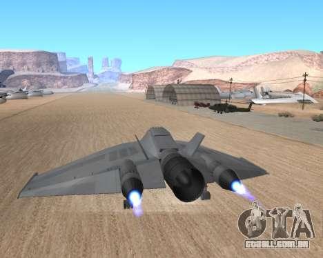 StarGate F-302 para GTA San Andreas vista interior
