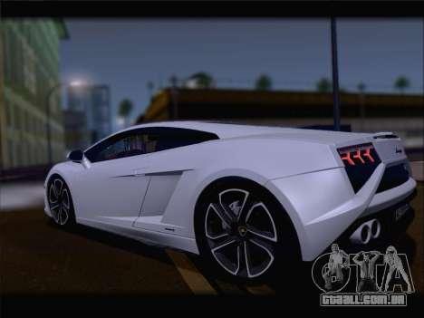 Lamborghini Gallardo 2013 para GTA San Andreas vista traseira