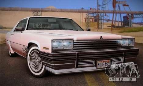 GTA V Manana para GTA San Andreas vista traseira