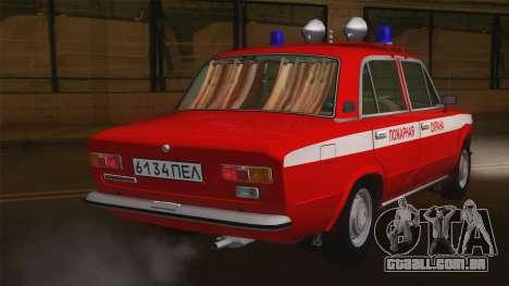 VAZ 21011 protecção contra incêndios para GTA San Andreas traseira esquerda vista