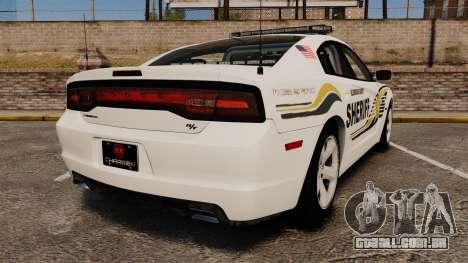 Dodge Charger RT 2012 Police [ELS] para GTA 4 traseira esquerda vista