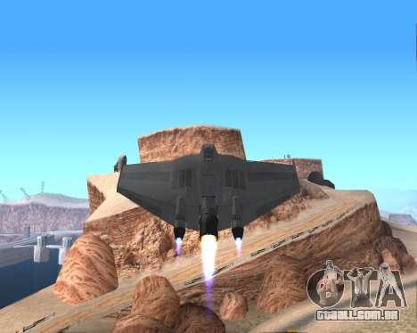 StarGate F-302 para GTA San Andreas vista superior