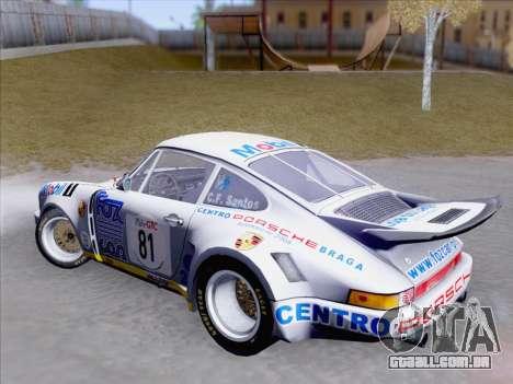 Porsche 911 RSR 3.3 skinpack 1 para GTA San Andreas vista interior