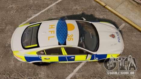 Jaguar XFR 2010 Police Marked [ELS] para GTA 4 vista direita