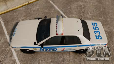 GTA V Vapid Police Cruiser NYPD para GTA 4 vista direita
