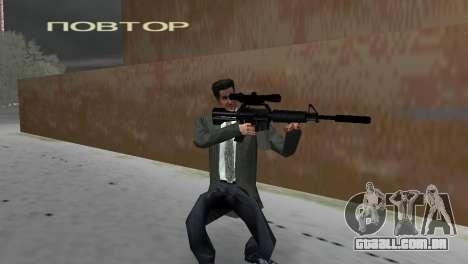 M4 com a arma de Sniper para GTA Vice City segunda tela