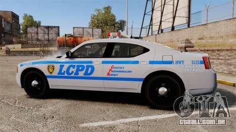 Dodge Charger LCPD [ELS] para GTA 4 esquerda vista
