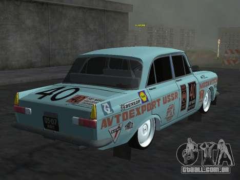Rally Moskvich 412 para GTA San Andreas esquerda vista