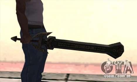 Sword of Darknut para GTA San Andreas segunda tela