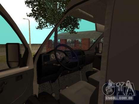 GÁS polícia Sable para GTA San Andreas vista traseira