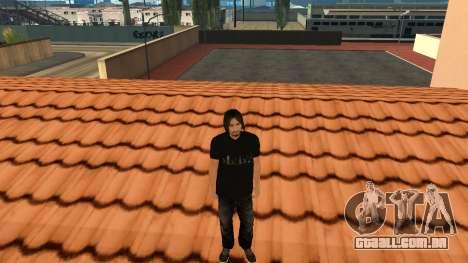 Pele de alta qualidade pessoal para GTA San Andreas sexta tela