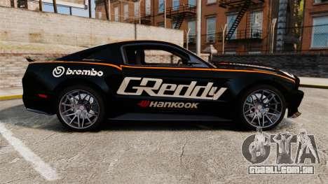 Ford Mustang GT 2013 NFS Edition para GTA 4 esquerda vista