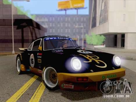 Porsche 911 RSR 3.3 skinpack 2 para GTA San Andreas traseira esquerda vista