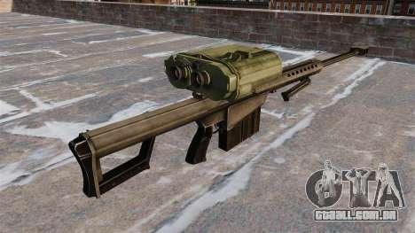 Rifle sniper Barrett M82A3 para GTA 4 segundo screenshot